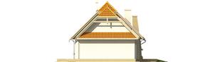 Projekt domu Śnieżynka III G2 - elewacja prawa