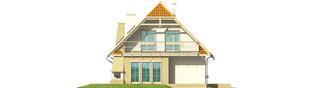 Projekt domu Śnieżynka III G2 - elewacja lewa