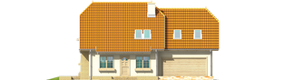 Projekt domu Śnieżynka III G2 - elewacja frontowa