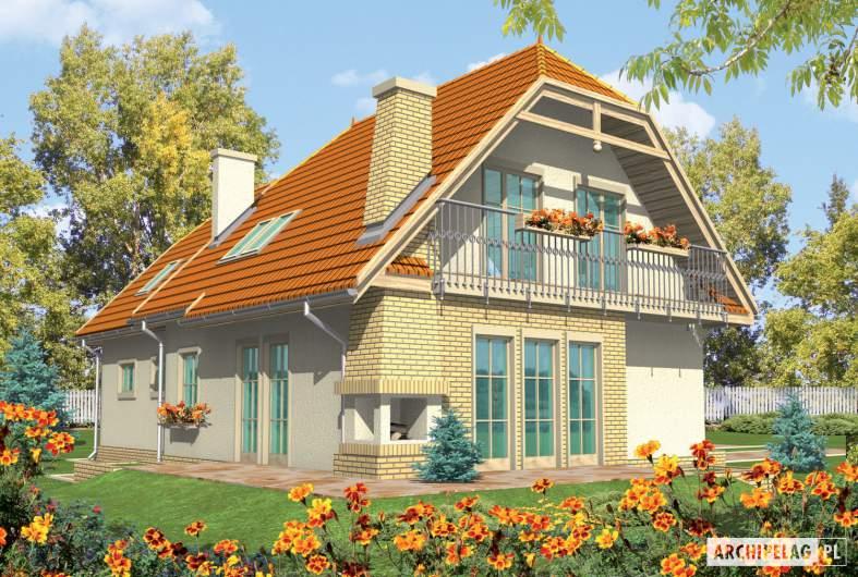 Projekt domu Śnieżynka III G2 - wizualizacja ogrodowa