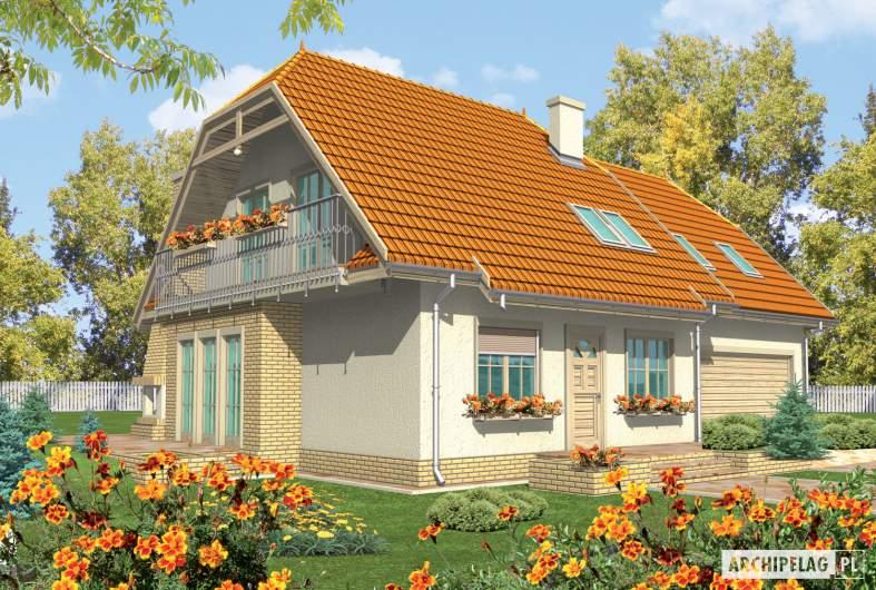 Projekt domu Śnieżynka III G2 - wizualizacja frontowa