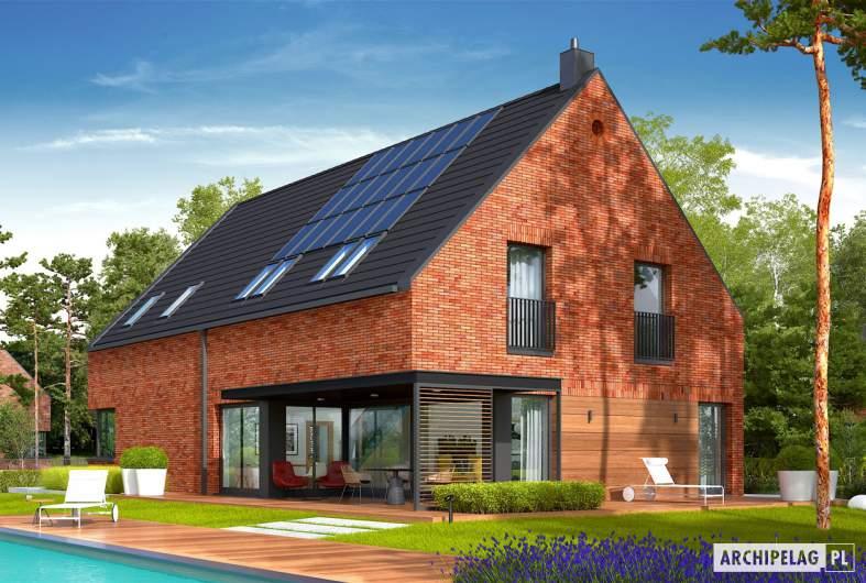 Projekt domu Teodor G2 (wersja A) ENERGO PLUS - wizualizacja ogrodowa