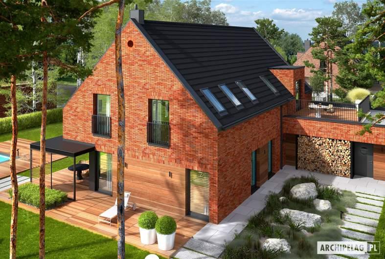 Projekt domu Teodor G2 (wersja A) ENERGO PLUS - widok z góry