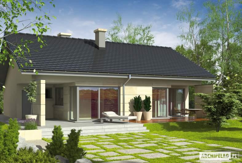 Projekt domu Tori G1 - Projekty domów ARCHIPELAG - Tori G1 - wizualizacja ogrodowa