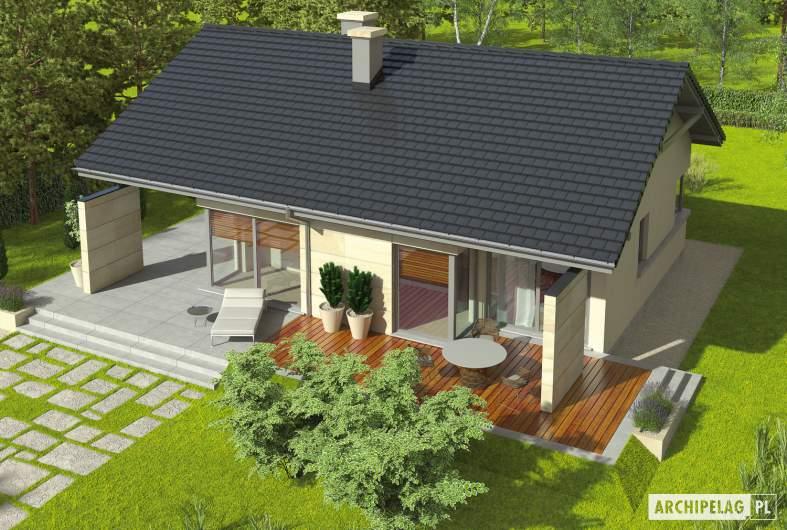 Projekt domu Tori G1 - Projekty domów ARCHIPELAG - Tori G1 - widok z góry
