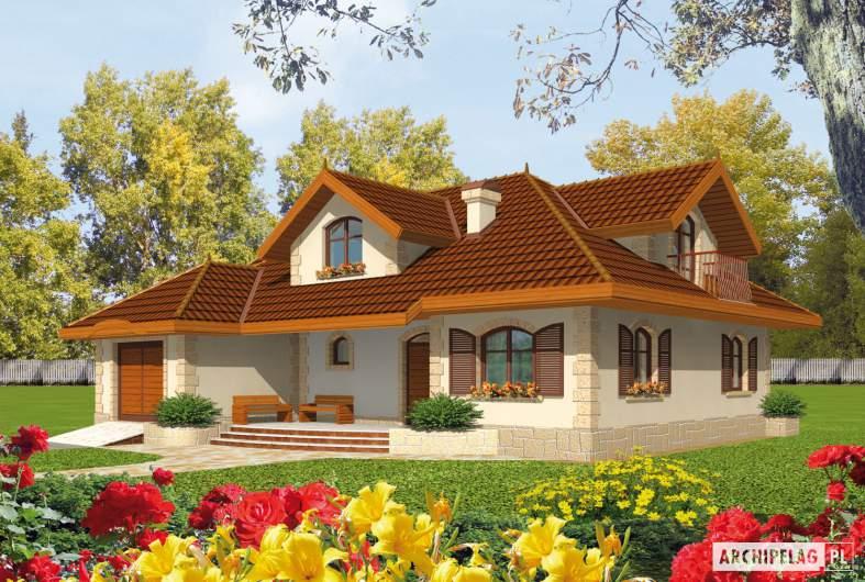 Projekt domu Marysia G1 - wizualizacja frontowa