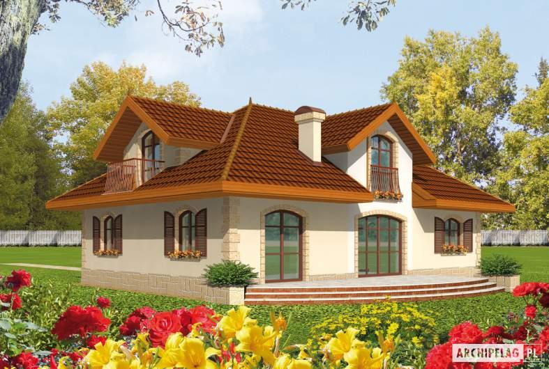 Projekt domu Marysia G1 - wizualizacja ogrodowa