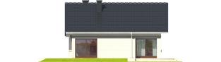 Projekt domu Tori III - elewacja tylna
