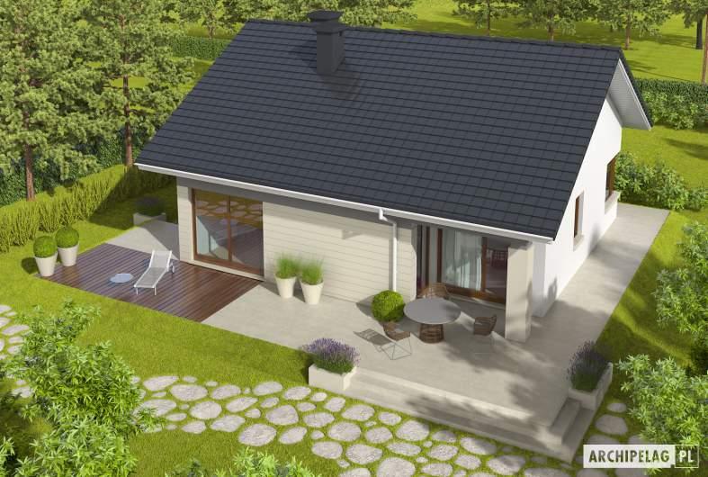 Projekt domu Tori III - widok z góry