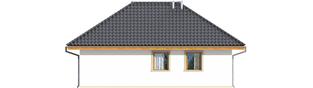 Projekt domu Garaż G20 - elewacja tylna