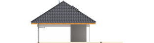 Projekt domu Garaż G20 - elewacja lewa