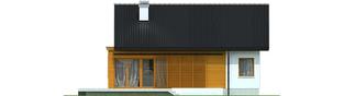 Projekt domu Elmo II ENERGO - elewacja tylna