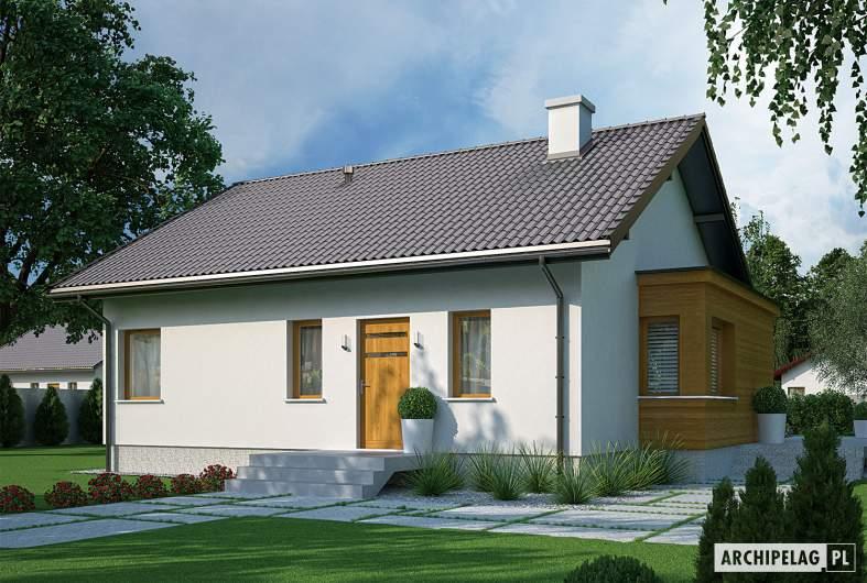 Projekt domu Elmo II ENERGO - wizualizacja frontowa