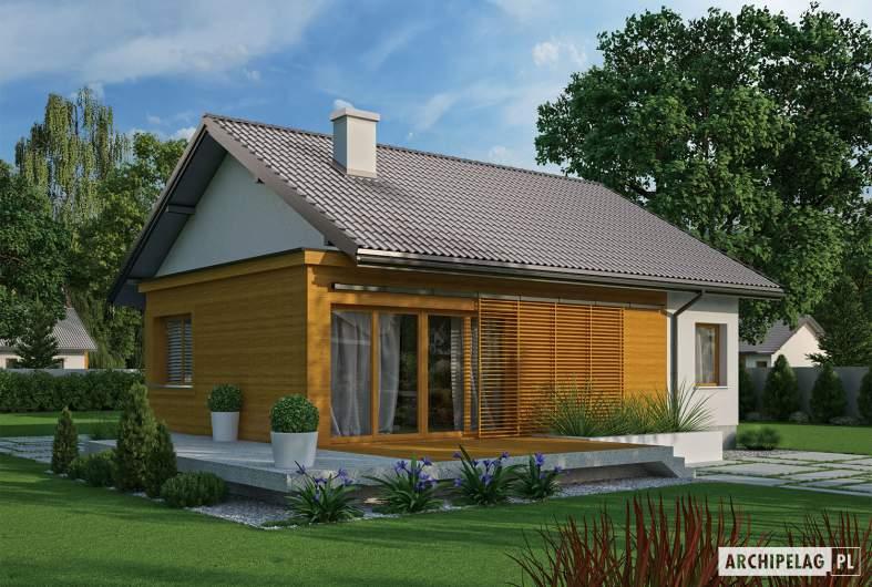 Projekt domu Elmo II ENERGO - wizualizacja ogrodowa