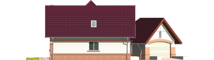 Projekt domu Liliana G2 - elewacja lewa