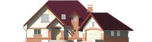 Projekt domu Liliana G2 - elewacja frontowa