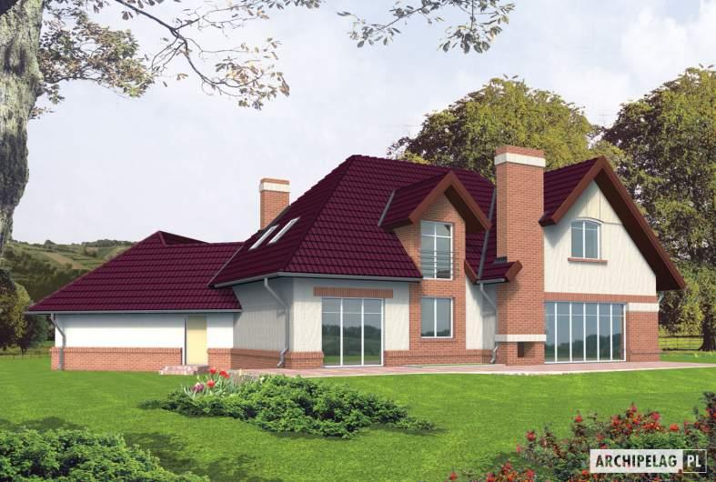 Projekt domu Liliana G2 - wizualizacja ogrodowa