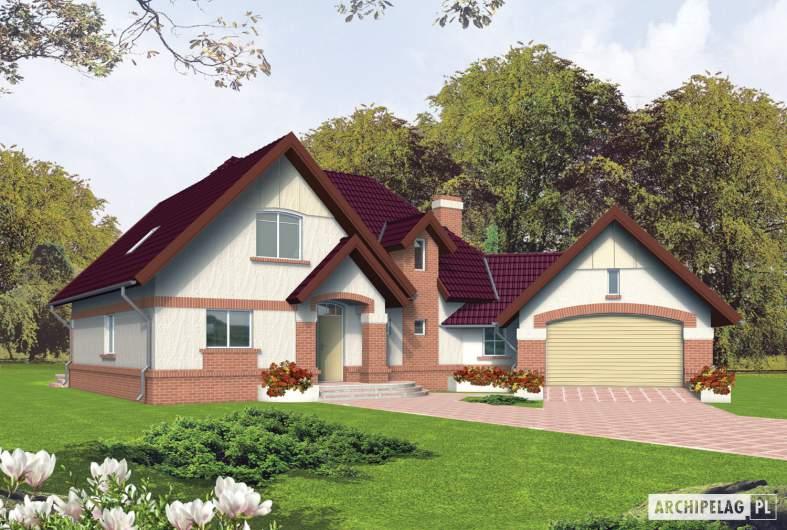 Projekt domu Liliana G2 - wizualizacja frontowa