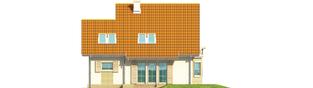 Projekt domu Śnieżynka II G1 - elewacja tylna