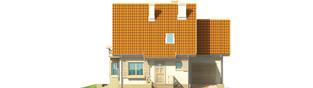 Projekt domu Śnieżynka II G1 - elewacja frontowa