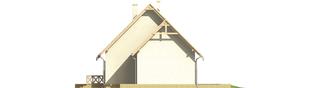 Projekt domu Śnieżynka II G1 - elewacja prawa