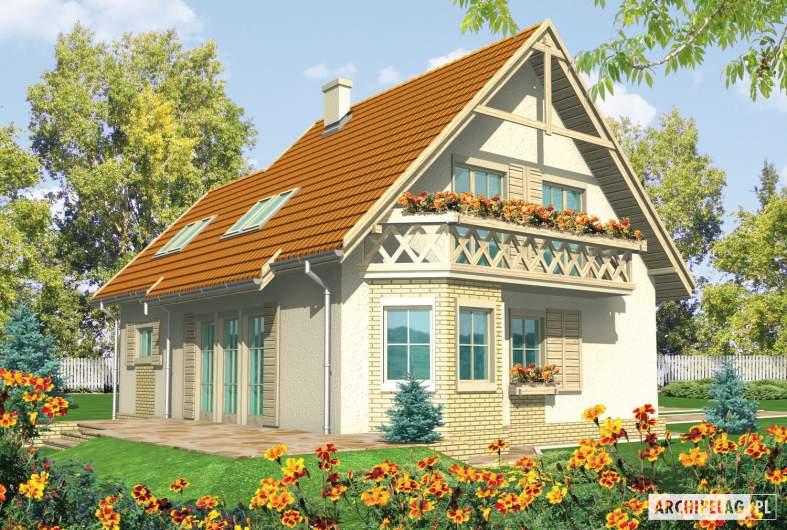Projekt domu Śnieżynka II G1 - wizualizacja ogrodowa