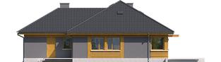 Projekt domu Anabela G1 - elewacja tylna