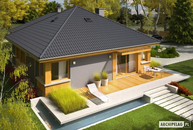 Projekt domu Anabela G1 - Projekty domów ARCHIPELAG - Anabela G1 - widok z góry