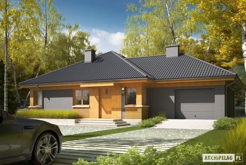 Projekt domu Anabela G1 - Projekty domów ARCHIPELAG - Anabela G1 - wizualizacja frontowa