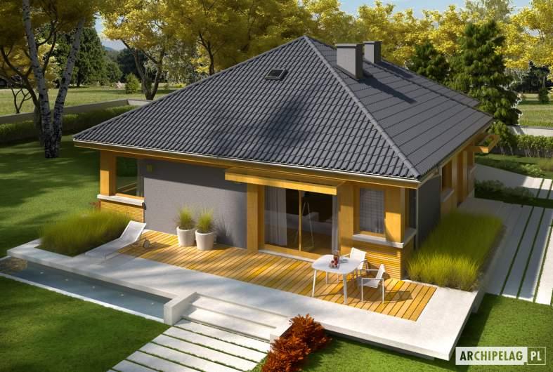 Projekt domu Anabela G1 - Projekty domów ARCHIPELAG - Anabela G1 - wizualizacja ogrodowa