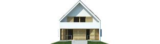 Projekt domu Lumina II G2 - elewacja tylna