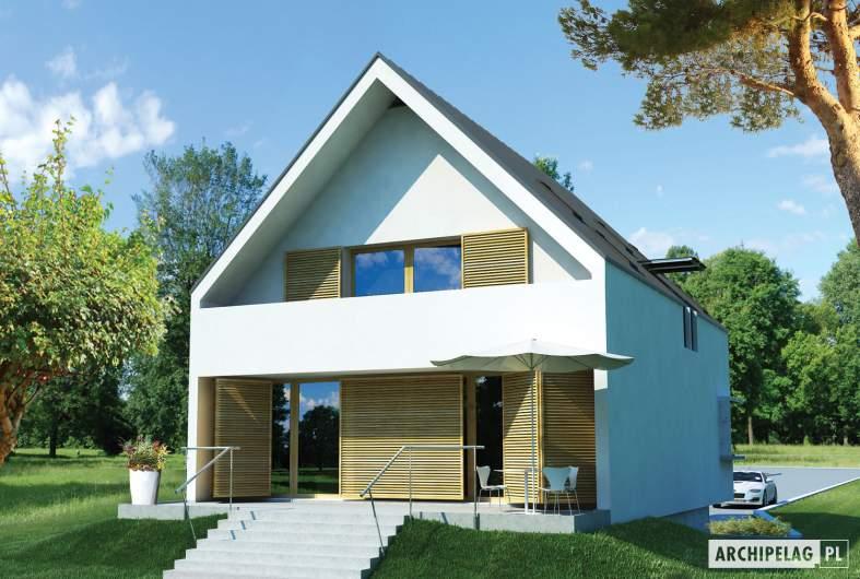 Projekt domu Lumina II G2 - wizualizacja ogrodowa