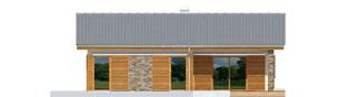Projekt domu Bob - elewacja tylna