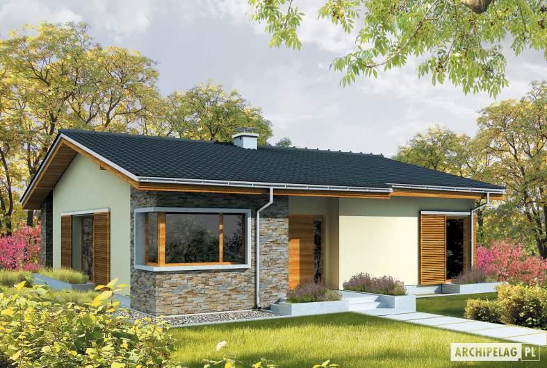 Projekt domu Bob - wizualizacja frontowa