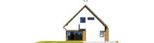 Projekt domu Tim G1 (wersja B) - elewacja lewa