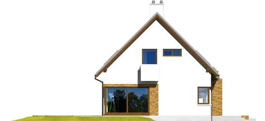 Tim G1 B - Projekt domu Tim G1 (wersja B) - elewacja lewa