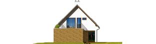 Projekt domu Tim G1 (wersja B) - elewacja prawa