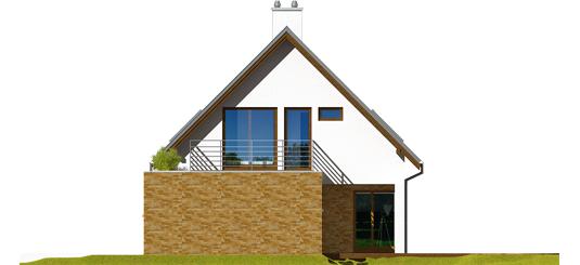 Tim G1 B - Projekt domu Tim G1 (wersja B) - elewacja prawa