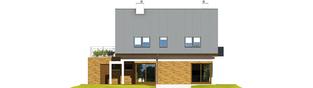 Projekt domu Tim G1 (wersja B) - elewacja tylna