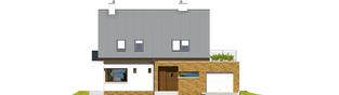 Projekt domu Tim G1 (wersja B) - elewacja frontowa