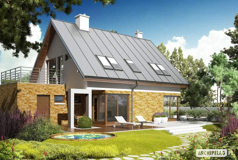 Projekt domu Tim G1 (wersja B) - wizualizacja ogrodowa