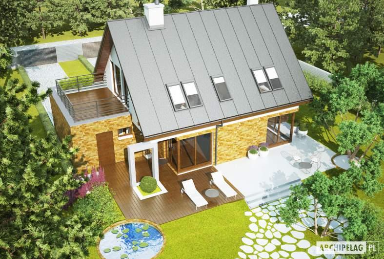 Projekt domu Tim G1 (wersja B) - widok z góry