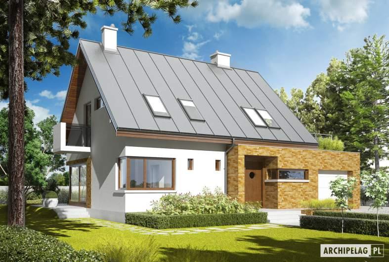 Projekt domu Tim G1 (wersja B) - wizualizacja frontowa