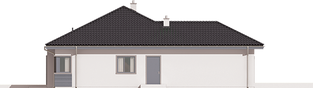 Projekt domu Eris II G2 (wersja C) - elewacja lewa