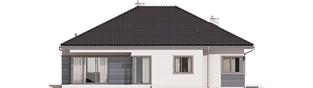 Projekt domu Eris II G2 (wersja C) - elewacja tylna