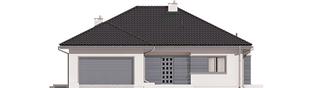 Projekt domu Eris II G2 (wersja C) - elewacja frontowa