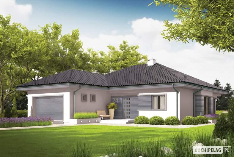 Projekt domu Eris II G2 (wersja C) - Projekty domów ARCHIPELAG - Eris II G2 (wersja C) - wizualizacja frontowa