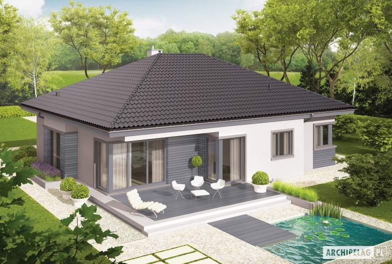 Projekt domu Eris II G2 (wersja C) - Projekty domów ARCHIPELAG - Eris II G2 (wersja C) - widok z góry
