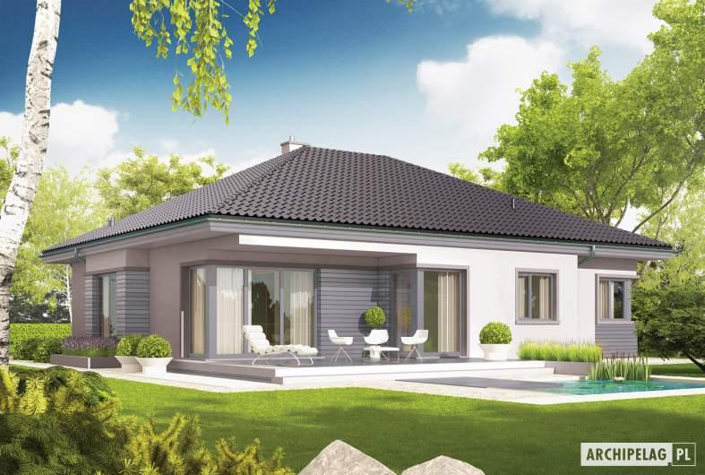 Projekt domu Eris II G2 (wersja C) - Projekty domów ARCHIPELAG - Eris II G2 (wersja C) - wizualizacja ogrodowa