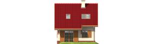 Projekt domu Raissa - elewacja tylna